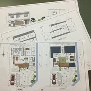 街中に建つ3人家族の家の基本プランが決まり、来年から本格的にスタートします。