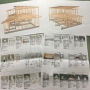 街中に建つ3人家族の家...木造軸組みのパースと照明のプレゼンが出来ました。