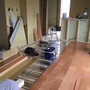 一人暮らしの母のために建てる家の工事が進んでいます。