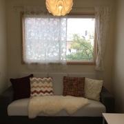 ゲストルームを冬のインテリアに模様替えしました。