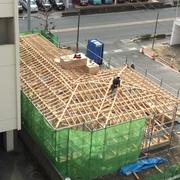 美健酵素防府店新築工事が上棟しました